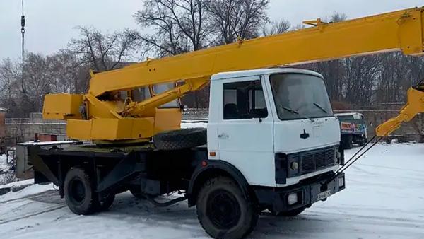 фото автокран МАЗ 14 тонн