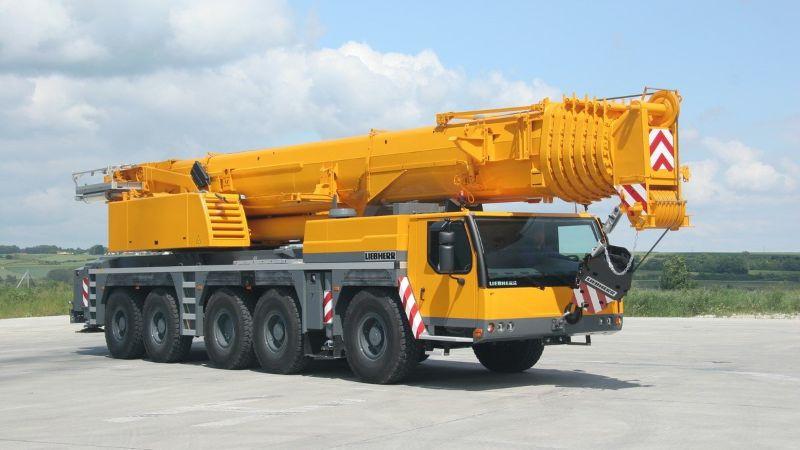 фото автокрана до 120 тонн LIEBHERR