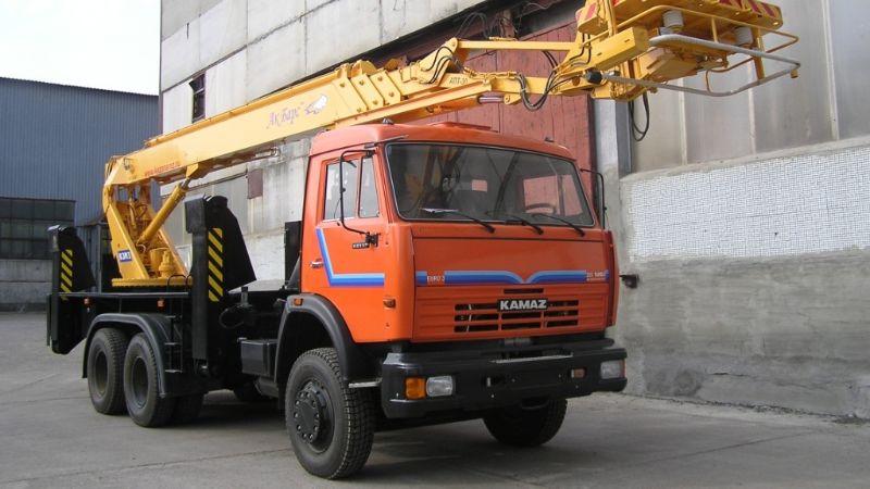 фото автовышка до 32 метров КАМАЗ