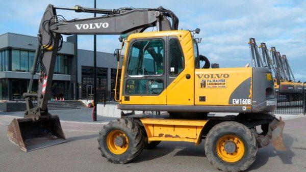 колесный экскаватор Экскаватор Volvo EW160B