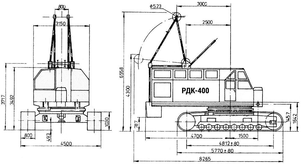 характеристики крана РДК 400