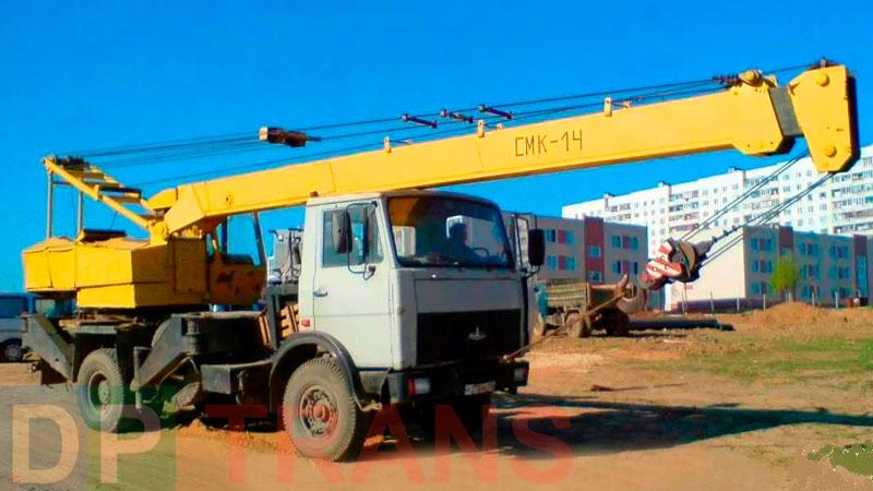 аренда автокрана MAZ 14 тонн